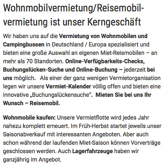 Wohnmobile günstig mieten in  Hannover, Isernhagen, Garbsen, Pattensen, Hemmingen, Laatzen, Ronnenberg oder Langenhagen, Seelze, Gehrden