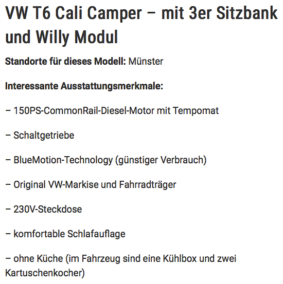 Wohnmobile mieten in Deutschland